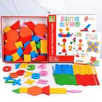 Bé Bằng Gỗ Màu Geometric Hình Dạng Jigsaw Puzzle cho trẻ em đồ chơi giáo dục đối với 3 năm olds Quà Tặng cho chàng trai và cô gái