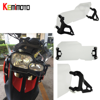 For BMW F800GS Twin Headlight Cover Guard Protector Shield Headlight Guard Clear F700GS F650GS 2008 2009 2010 2016 after market