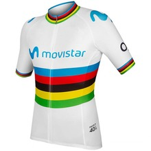 2019 world champion Alejandro Valverde cycling jersey Bicycle maillot breathable MTB quick dry bike clothing Ropa ciclismo only