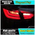 A & T Estilo Do Carro para Ford Focus Luzes Traseiras BMW Projeto 2012-2014 Foco LEVOU Cauda Lâmpada Traseira Da Lâmpada DRL + Freio + Parque + Sinal De luzes led