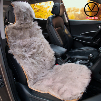 Strange Kawosen Natural Fur Seat Covers Universal Size Long Hair Alphanode Cool Chair Designs And Ideas Alphanodeonline