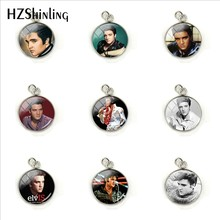 2019 New Elvis Presley Dome Cabochon Charms Famous Star Elvis Presley Crystal Round Picture Glass Cabochon Pendants Jewelry(China)