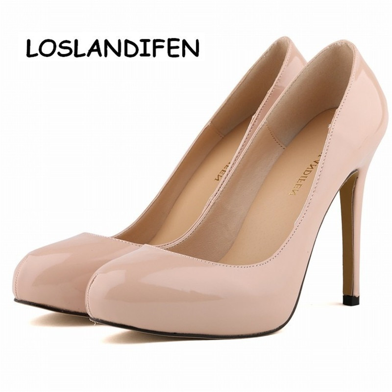 LOSLANDIFEN WOMENS PUMPS PU 11CM WEDDING HIGH HEEL SHOES POINTED TOE CORSET STYLE WORK PUMPS COURT SHOES EUR35 42 806 2