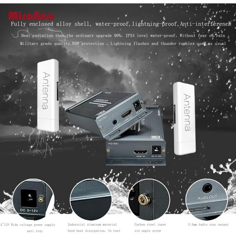 HDMI Wireless Splitter 1080P Wireless HDMI Ethernet Network Transmitter Receiver Extender for HDTV TV