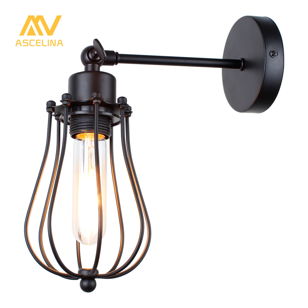 wall lamp Loft American vintage indoor light bedside lamps industrial sconce bedroom Wall lights for home lighting 110V/220V E27 m american vintage wall lamp indoor lighting bedside lamps wall lights for home stair lamp