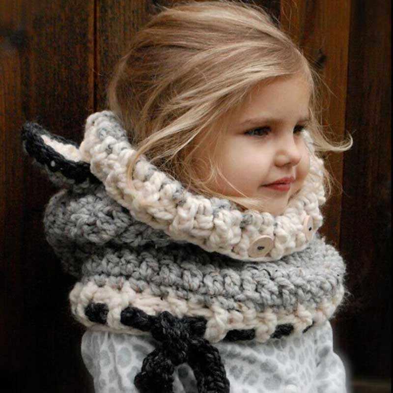 8 Stijl 1-7 Y Baby Meisjes Balaclava Winter Hoeden Handgemaakte Kids Hoeden Wrap Vos Sjaal Caps Leuke Herfst kinderen Wol Gebreide Hoeden