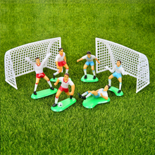 1 Set Football Game Cake Topper Birthday Cake Kids Doll Toy Home Decor Soccer Baking Cupcake Party Supplies For Cake Decoration