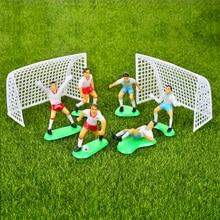 Juego de decoración para tarta de fútbol para niños, decoración para el hogar, suministros de fiesta para cupcakes, pastel de cumpleaños, muñeca de juguete para niños