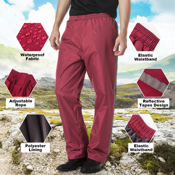 Impermeable QIAN para mujer/hombre Pantalones de lluvia de bicicleta de doble capa de mujeres impermeables motocicleta lluvia engranaje Poncho pantalones impermeables