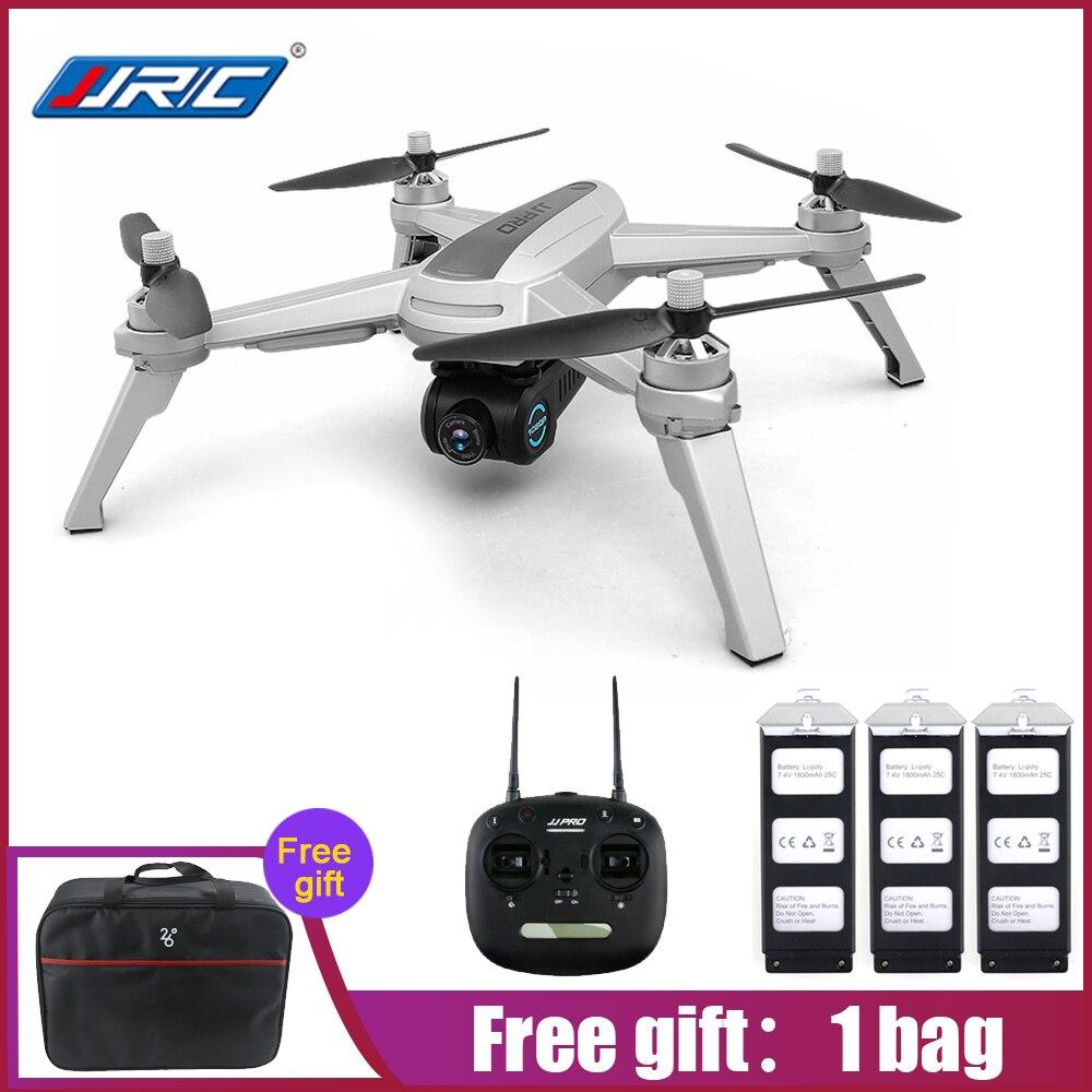 JJRC JJPRO X5 5g WiFi FPV RC Drone GPS Positionnement Hélicoptères Brushless 1080 p Caméra Point De Intéressant Suivre 3 Batteries