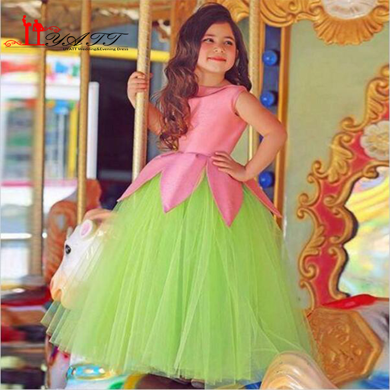 Beautiful Kids Prom Dresses Tulle Little girls Ball Gowns Arabic ...