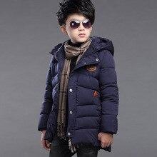 Boy padded jacket new winter 2016 fashion baby boy clothing big virgin thick down jacket coat 5/6/7/8/9/10/11/12/13/14 years