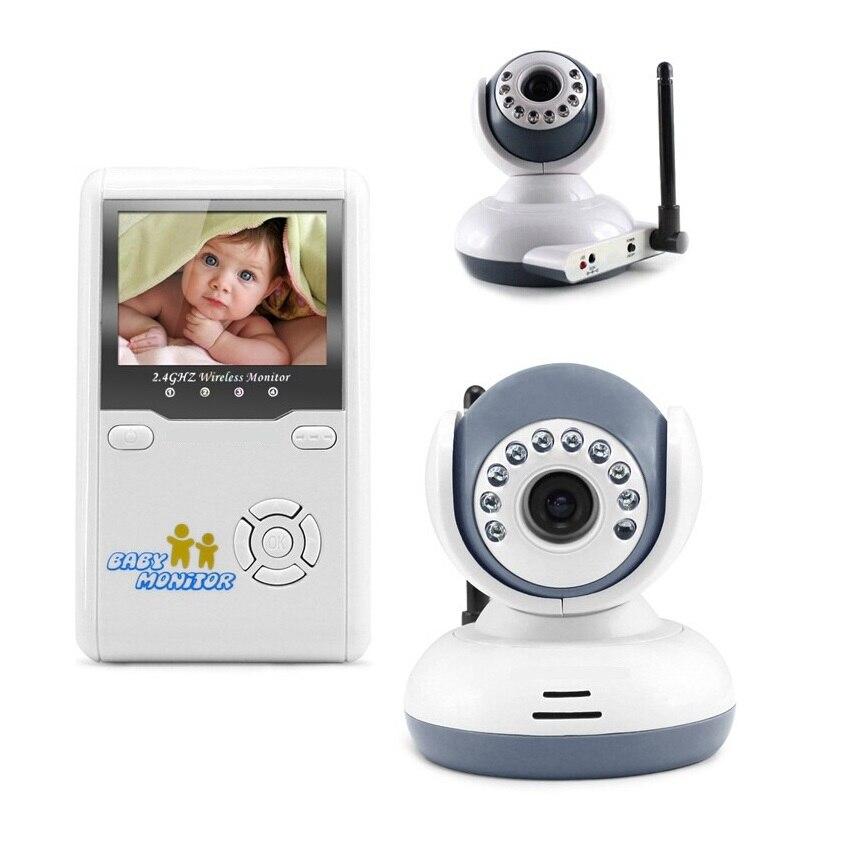 2.4 inch baby monitor 2.4GHz Intercom Lullabies IR Night vision baba electronics monitor video babysitter detector fetal doppler