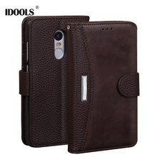 For Xiaomi Redmi Note 4X Case IDOOLS 5.5 PU leather Flip Cover Luxury Phone Bags Cases for Xiaomi Redmi Note 4X 4 3 3S Pro Prime
