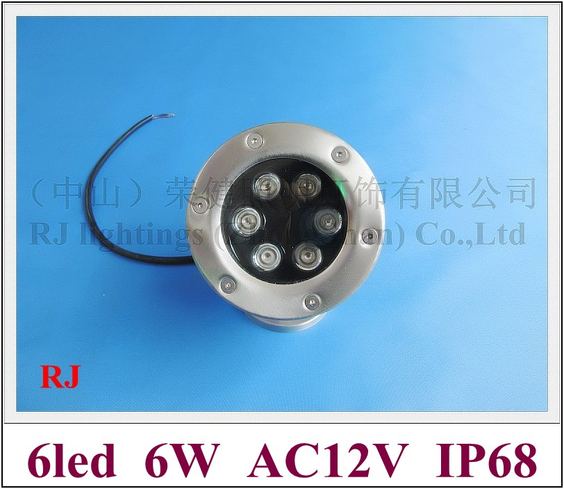 high power 6W LED underwater light lamp LED swimming pool light fountain light AC12V 6W IP68 free shipping