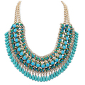 Layered Bohemian Tassels Fringe Drop Vintage Weave Multilayer Collar Necklace Choker Chain Bib nice Necklace & Pendants