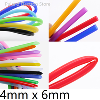 Silicone Tube ID 4mm x 6mm OD Flexible Rubber Hose Thickness 1mm Food Grade Soft Milk Beer Drink Pipe Water Connector Colorful