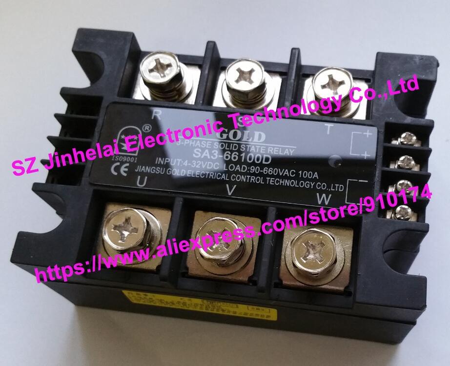 SA366100D (SA3-66100D) GOLD Authentic original SSR 3-phase DC control AC SOLID STATE RELAY 100A sa366100d sa3 66100d gold new and original ssr 3 phase dc control ac solid state relay 100a