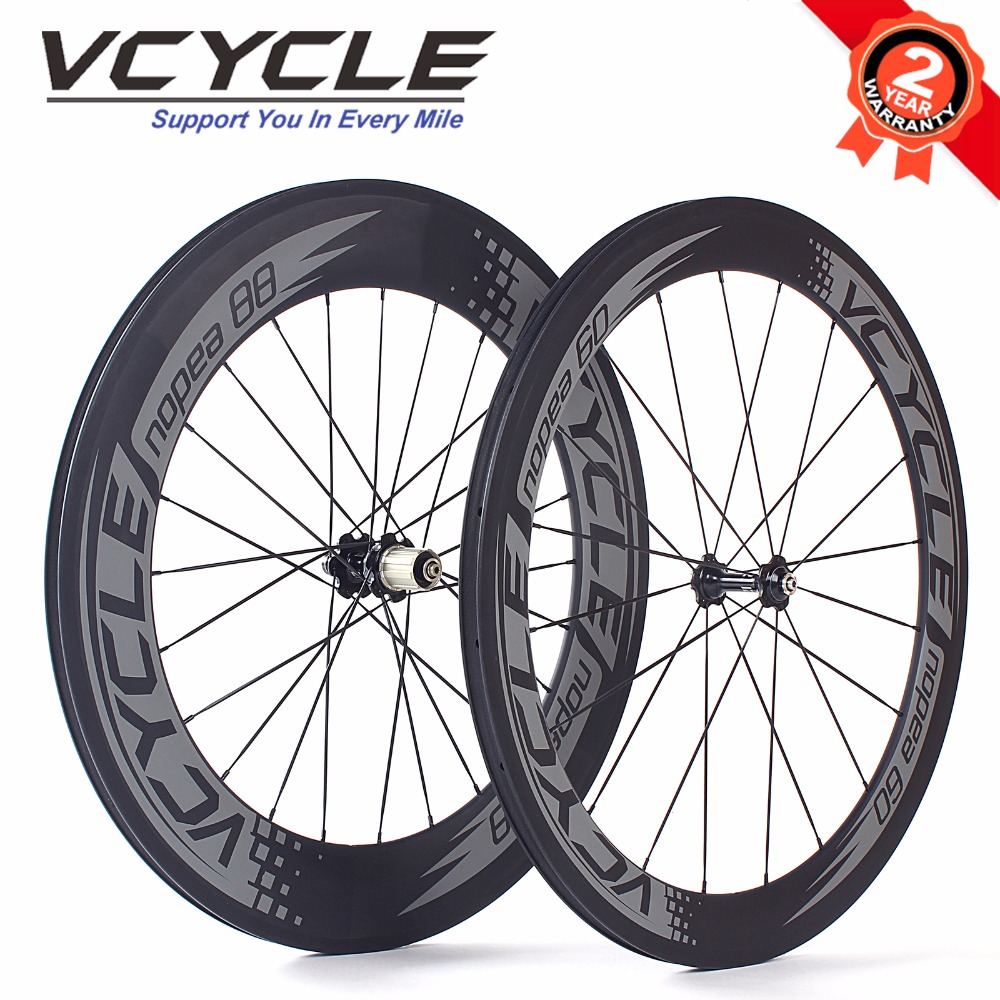 Vcycle Front 60mm Rear 88mm Road Bike Carbon Wheels 700c