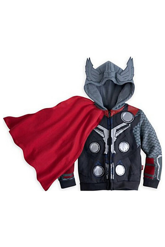 Marvel Thor Cosplay Costume Thor Cosplay Zip Hoodie For Kids Cosplay Costume For Children