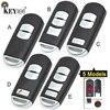 KEYECU für Mazda 3 6 CX 3 CX 5 Ersatz 2/ 3/ 2 + 1/ 4 Taste Smart Remote auto Schlüssel Shell Fall Fob Rot Halten mit Uncut Klinge