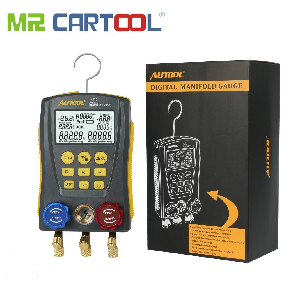 M. LM120 Réfrigération Collecteur table numérique CVC Auto Froid Moyen Jauge Température De Pression Testeur De Voiture climatisation Conditionneur