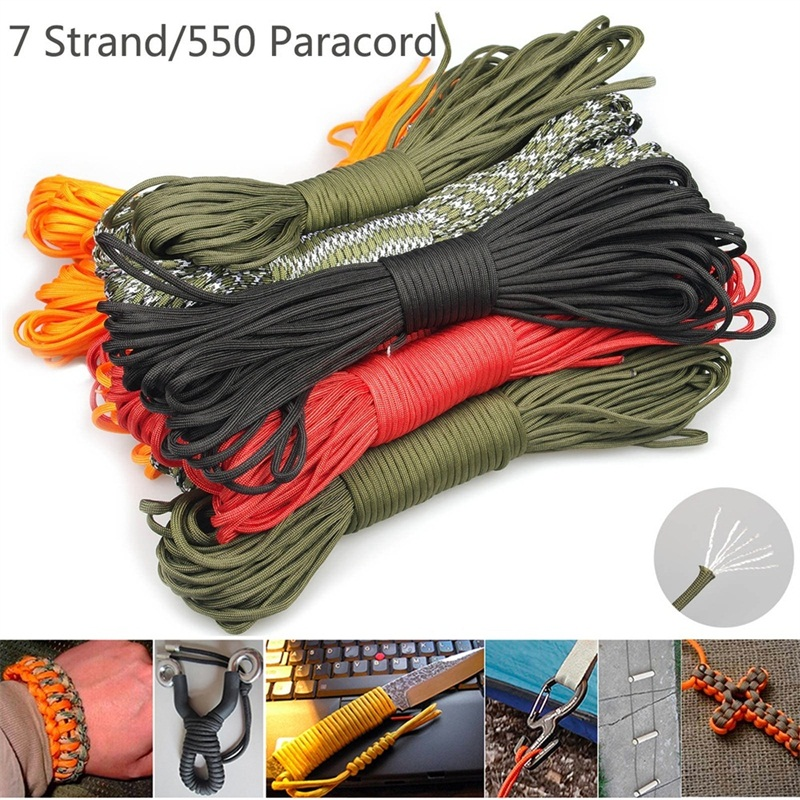 5mm 31M Parachute Cord 7 Cores Lanyard Rope Camping Survival Clothesline