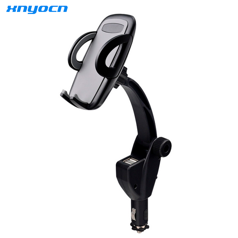 2 USB Ports with 3A Current Universal font b Car b font Charger Holder Mount Cradle