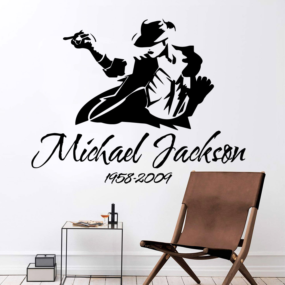 3D Michael Jackson Wall Stickers Vinyl Waterproof Decal For Living Room Sticker Vinyl Decals Mural Decor vinilo decorativos in Wall Stickers from Home Garden