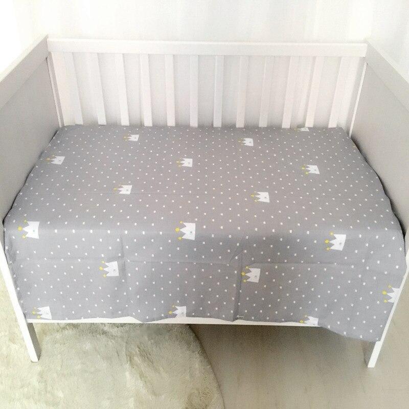 1PC Muslin Baby Bed Sheet 100% Cotton Newborn Bedsheets Skin-friendly Infant Cot Crib Bedding Sheets Bedding Set 140*90cm