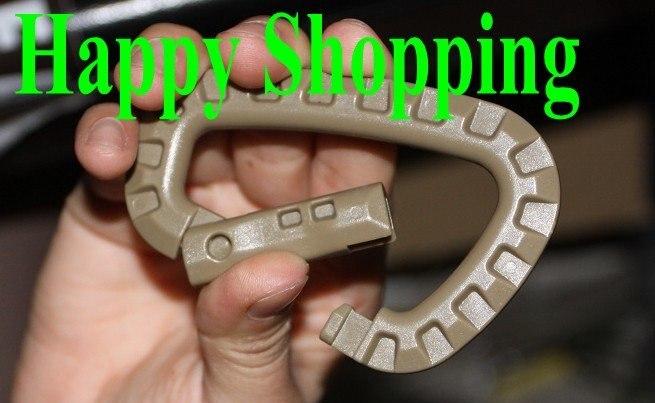 10 шт./партия, стопорное кольцо для переноски D типа, альпинистская пряжка черного цвета