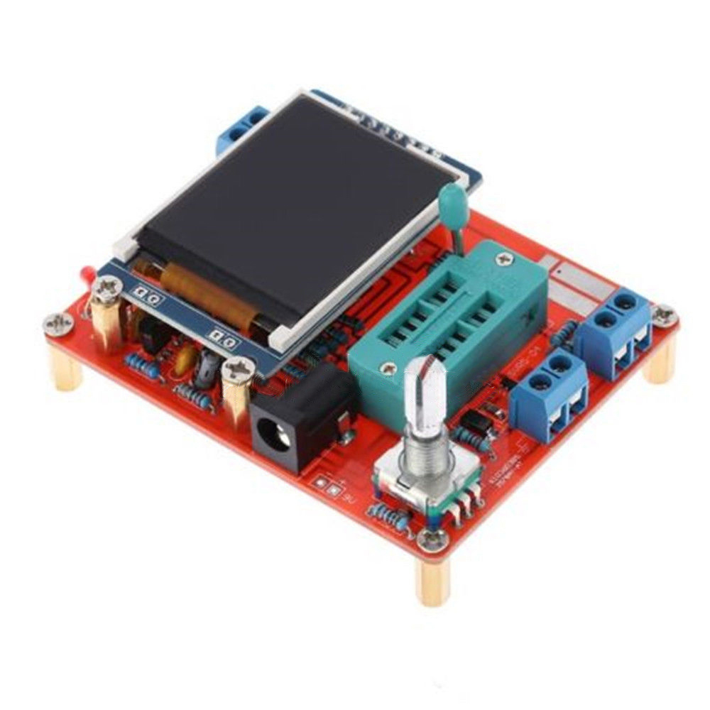 Mega328 Transistor Tester LCR Capacitance ESR meter PWM TFT LCD Generator LCD Screen Tester DIY Tools graphics version of the transistor tester lcr two or three tube line pwm esr fang bo signal diy suite