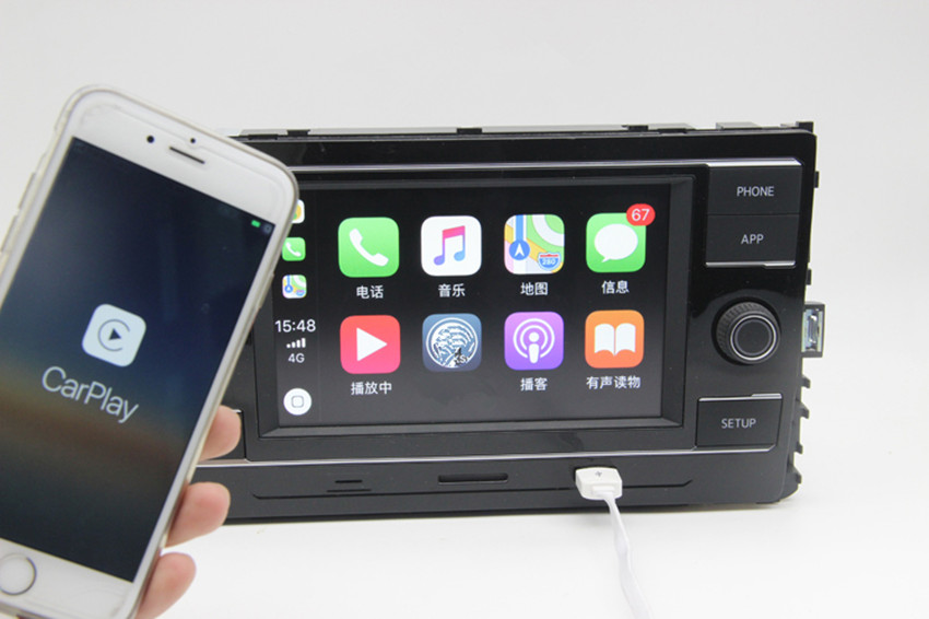 carplay mqb 6 5 mib car radio bluetooth for 2017 passat. Black Bedroom Furniture Sets. Home Design Ideas