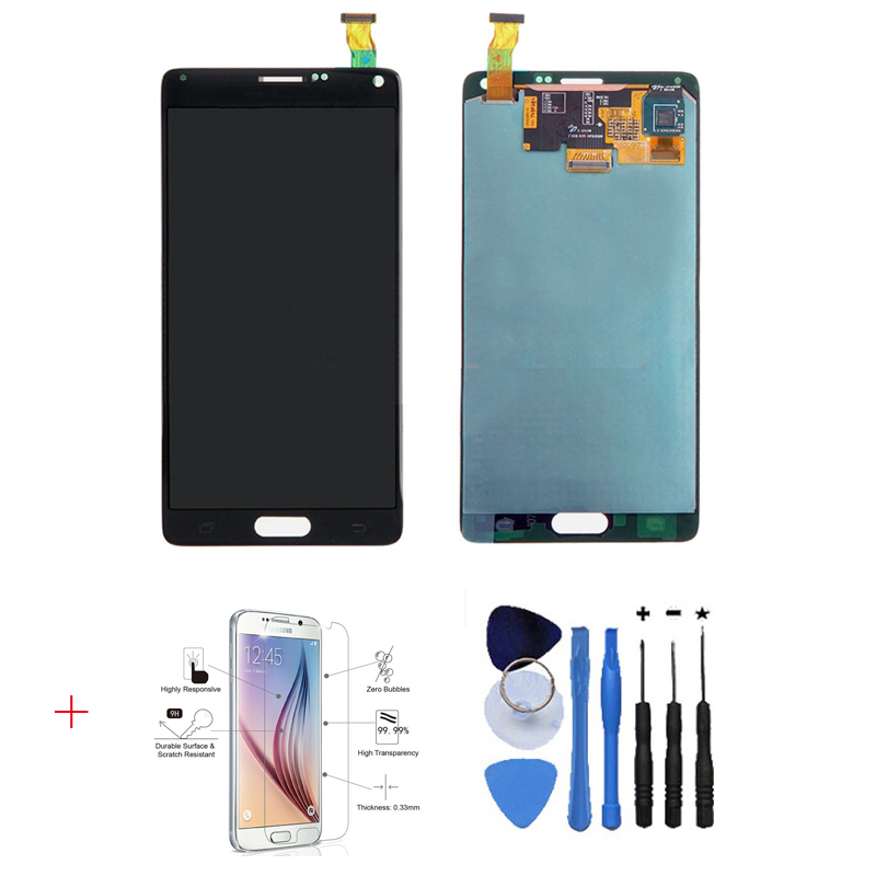 OEM 100% Test LCD Display Touch Screen Digitizer Glass Parts For Samsung Galaxy Note 4 N910 N910A N910T Black+With free tools 100% brand new lcd digitizer touch screen display assembly for samsung galaxy note 4 n910 n910a n910v n910p n910t black or white