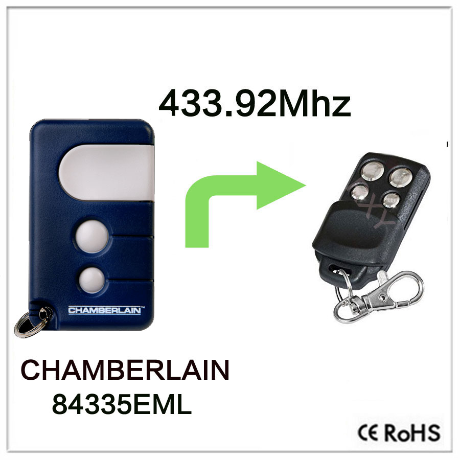 CHAMBERLAIN <font><b>84335EML</b></font> remote control rolling code 433.92mhz CHAMBERLAIN remotes image