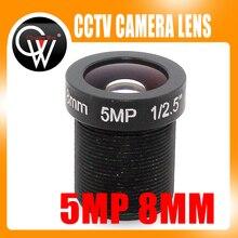 5MP 8mm HD CCTV Lens For Security IP Camera F2.0 M12 Mount Fixed Iris Format 1/2.5″ (100pcs/lot)
