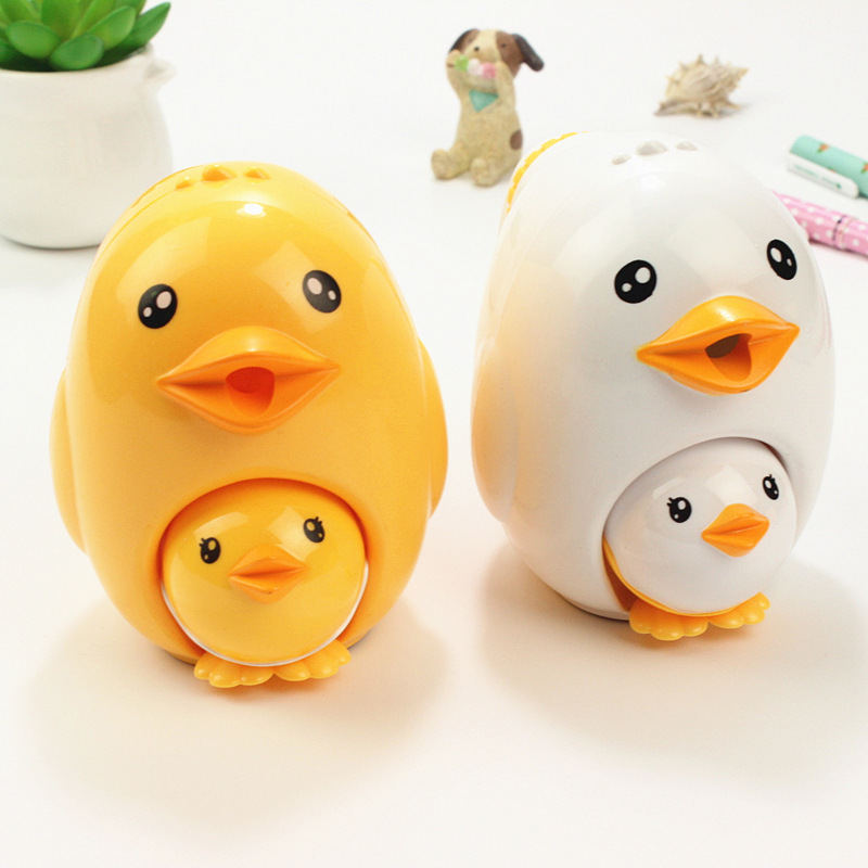 Novelty Cute Cartoon Animal Chick Pencil Sharpener Kawaii Hand Mechanical Student Pencil Sharpeners School Office Stationery deli stationery pencil sharpener mechanical cartoon kawaii pencil sharpener cute pencil sharpener office & school supplies