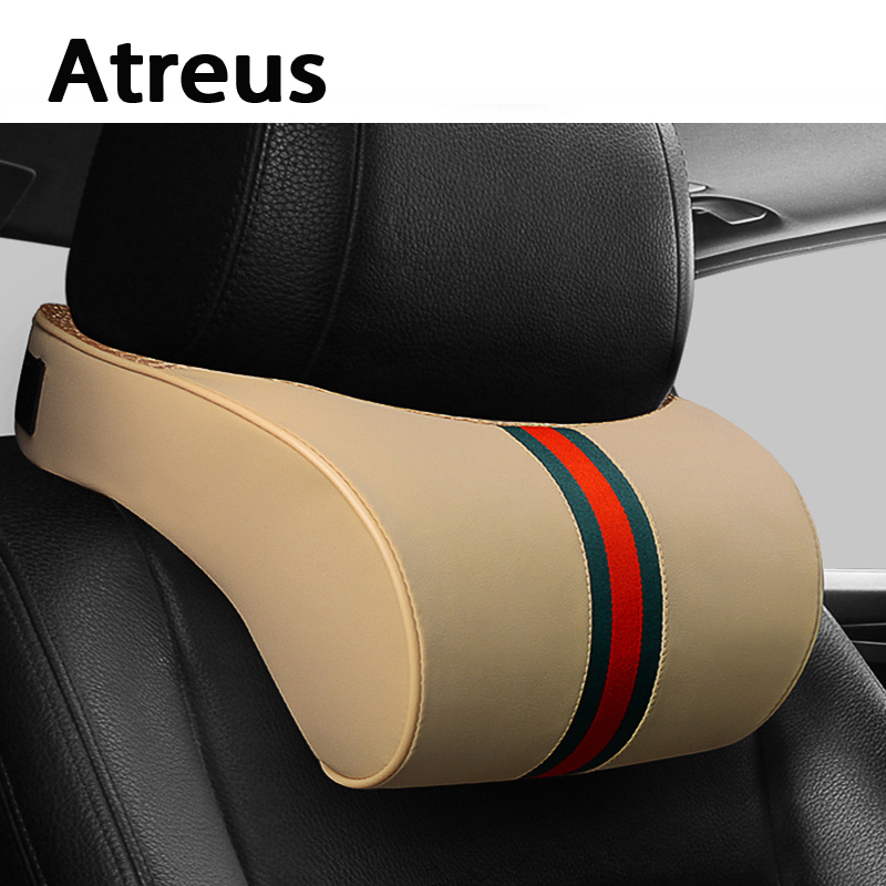 Atreus oblikovanje avtomobila 1 kos vzglavnik za avtomobilski usnje - Dodatki za notranjost avtomobila - Fotografija 1