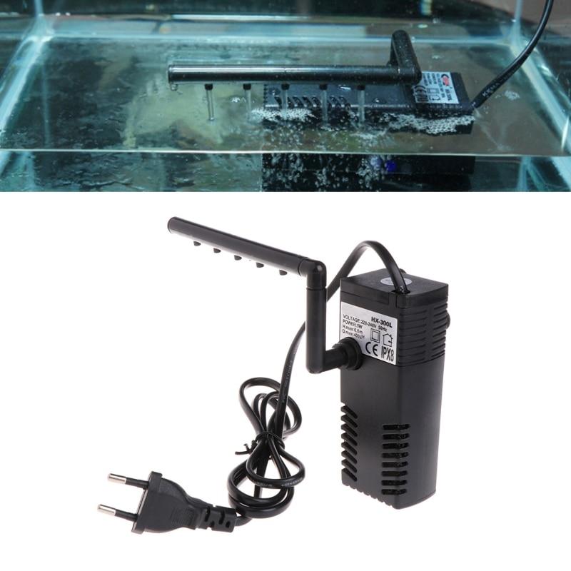 5/8W Aquarium Internal Filter Oxygen Submersible Water Pump For Fish Tank Filters Aquario Accessories Christmas EU Plug