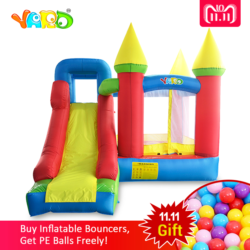 YARD Bouncy castle Inflatable Jumping Castles trampoline for chIldren 3.5*3*2.7m House Inflatable Bouncer With Slide Blower yard inflatable games trampoline bouncer house with slide children outdoors oxford pvc inflatable castle moonwalk bouncer blower