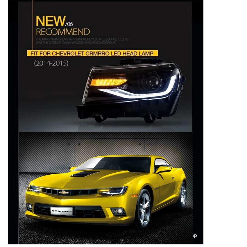 For 2010-2015 Chevrolet Camaro FRONT Side Marker Light Lamp PAIR Left Right