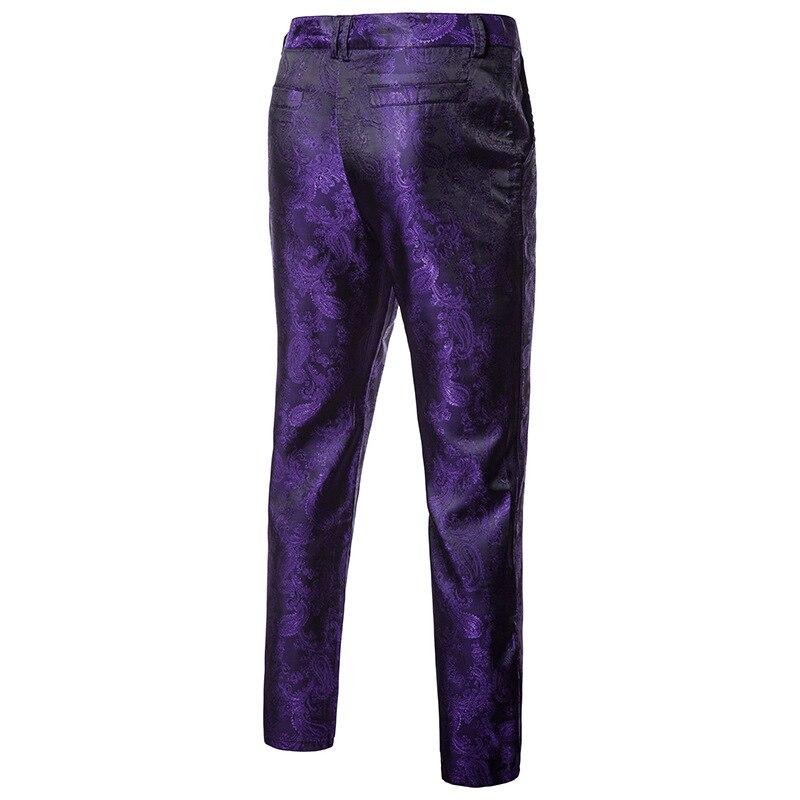 2018 Autumn and Winter New Men Classic Jacquard Suit Pants Size 3XL Slim Elegant Mens Business Banquet Dress Trousers