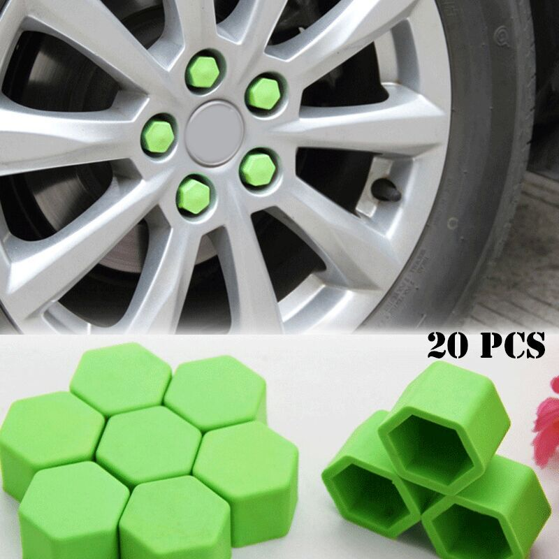 20pcs Candy Color Silica Gel Wheel Nuts Covers Protective Caps Hub Screw Protector For Toyota highlander New Camry Yaris EZ