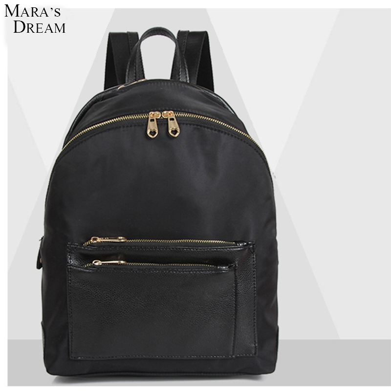 2017 Mara s Dream Japanese Fashion PU Leather Backpack Bag Female Campus Trend Portable Solid Soft