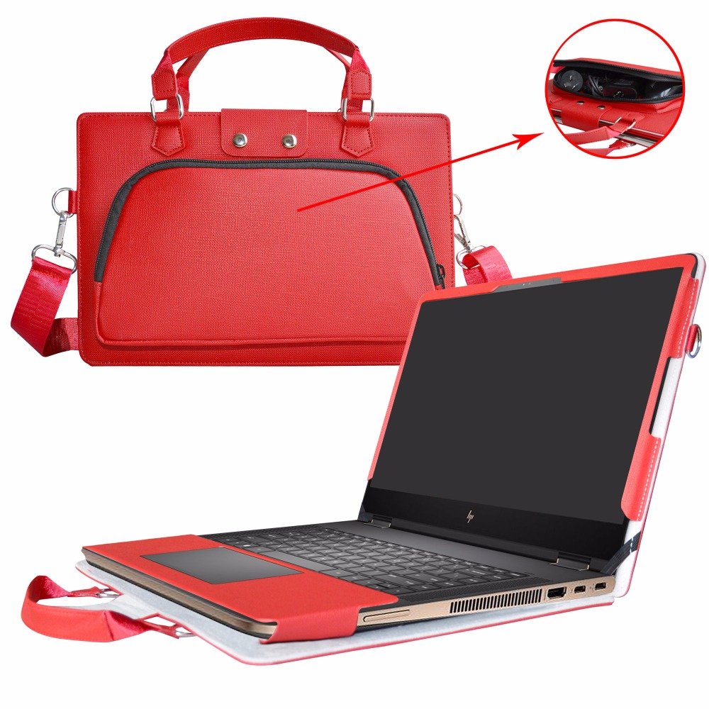 все цены на Accurately Designed Protective PU Leather Cover + Portable Carrying Bag For 15.6