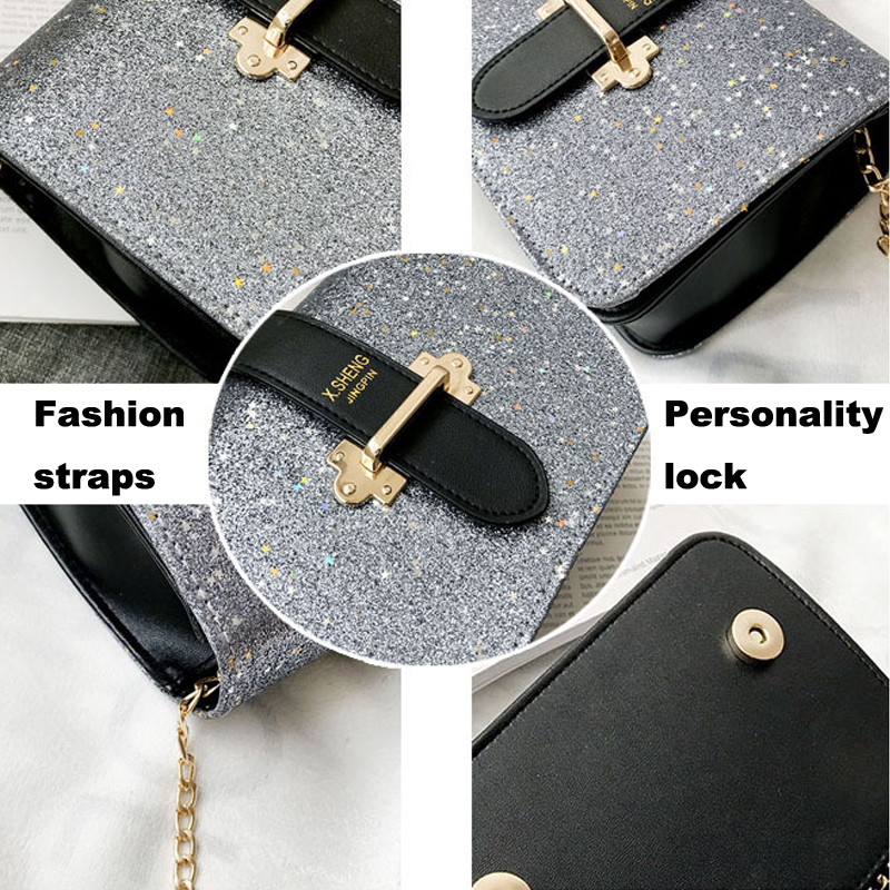 FJUN Gradient Rainbow Shiny Women Handbag Paillette Bling Bling Female  Glitter Sequined Messenger Bag Popular Party Lady Leather-in Shoulder Bags  from ... 61dfa9e6ac09