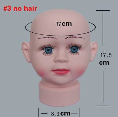 1pcs Infant baby head model baby boy and girl show cap hat Knitted hat glasses scarf wig mannequin window Display wholesale