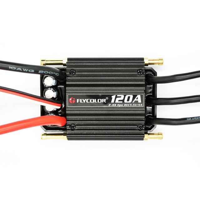 BEC ESC 120A Controlador Electrónico de Velocidad Sin Cepillo de Enfriamiento DEL Barco RC Barcos