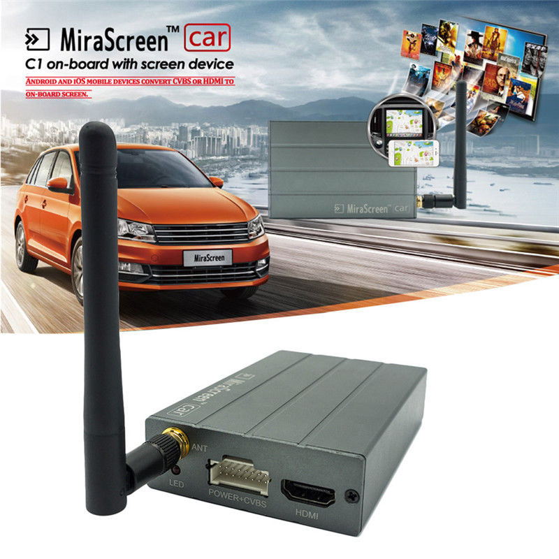 Mirascreen Car With Wireless WiFi Display Mirror Link Box Adapter MiraScreen DLNA Airpla ...