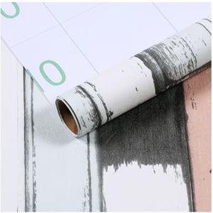 Image 3 - Grano di legno dalla parete impermeabile adesivo di carta bastone della parete camera da letto carta da parati mobili armadio guardaroba adesivi ristrutturazione